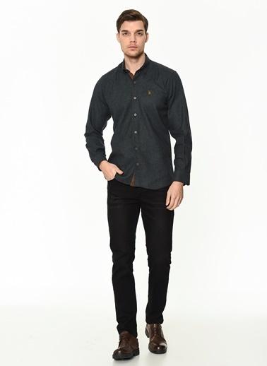 Dewberry Uzun Kollu Pamuklu Erkek Gömlek Haki